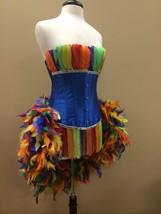 Pick Size-Royal Blue Rainbow Parrot Showgirl Saloon Girl Moulin Burlesqu... - $229.99