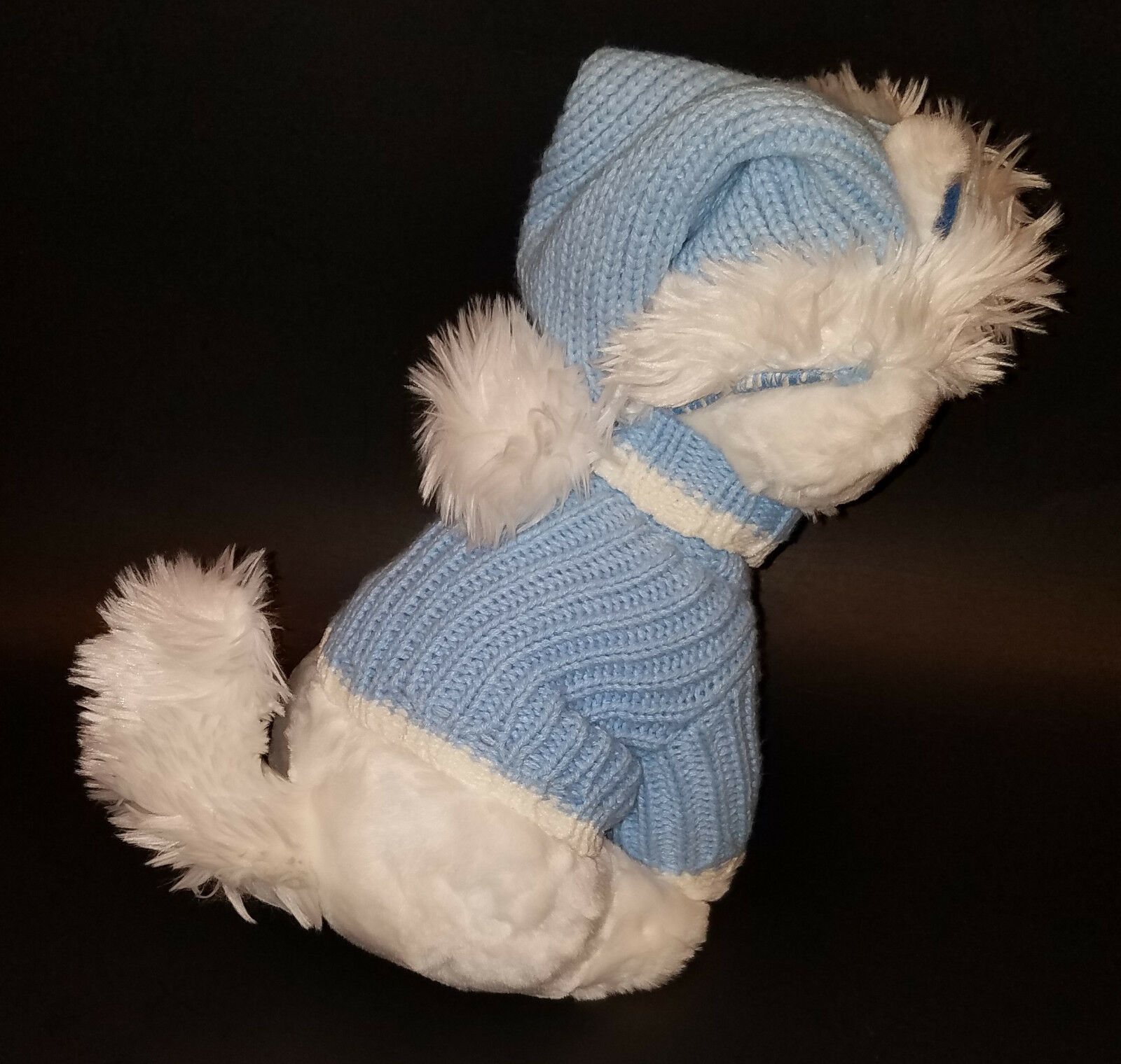 """Disney Store Exclusive Aristocats Marie Cat 12"""" Wearing Blue Sweater Hat Winter image 6"""