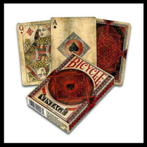 Bicycle Vintage Classic Playing Cards Made In Usa Original Deck Aged Look (New) - $14.84