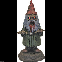 Bloody Zombie GNOME-BIE Light Up Walking Dead Horror Prop Garden Yard De... - $33.29
