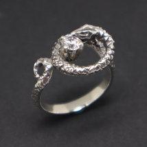Silver Snake Biting Ring image 6