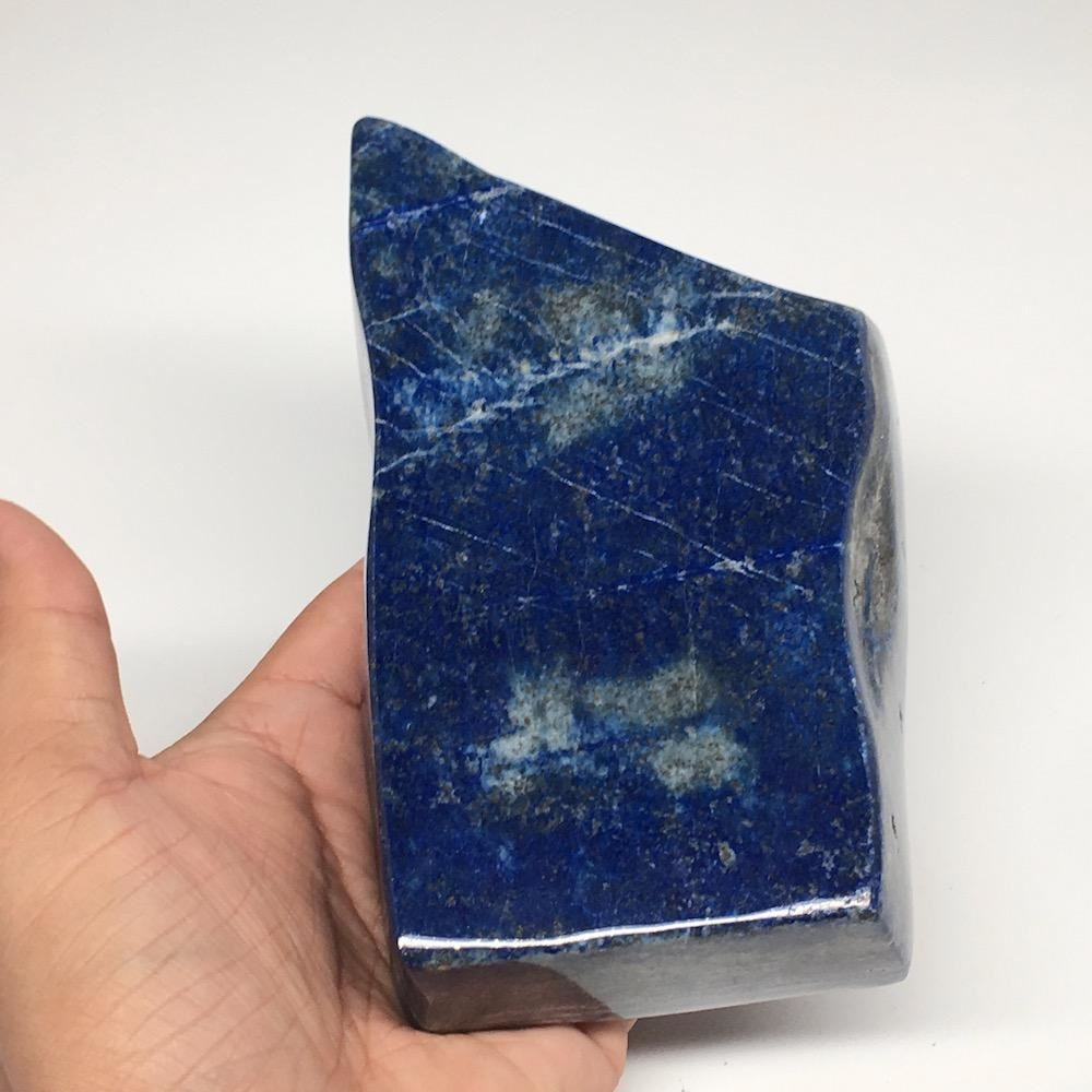 "6""x3.3""x1.3"", 966g,Natural Polished Freeform Lapis Lazuli @Afghanistan,PL91"