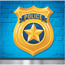 Police Party 2 Ply Beverage Napkins, Case of 192 - $36.76
