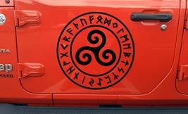 Triskelion in Runic Circle Vinyl Decal - Viking Nordic Runes - Die Cut S... - $8.90+
