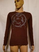 Rare Shonen Jump Naruto 2002 Brown Thermal Shirt Long Sleeve Pullover - $14.92