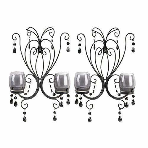 Decorative Wall Sconce, Midnight Elegance Candle Modern Wall Sconce Decor, 2pc