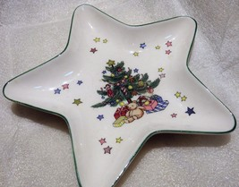 Nikko Star Shaped Christmastime Treat Trinket Dish Christmas Tree - $21.29
