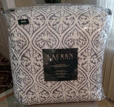 New Ralph Lauren Bali Batik Gray 3 Piece King Comforter Set - $128.69