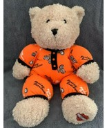 "2006 Harley Davidson 12"" Plush Bear Orange Black Pajamas PJs Soft Stuffed Toy - $14.84"