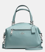 NWT Coach Prairie Blue Polished Pebble Leather Satchel Convertible Bag 5... - $195.00