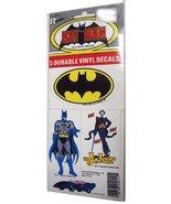 Vintage BATMAN (5) Durable Vinyl Decals / 1982 DC Comics - $14.00