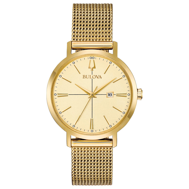 Bulova Women's Aerojet Watch Gold 35mm Stainless Steel 97M115