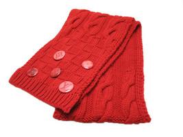 LOUIS VUITTON Echarpe Constance Scarf Muffler Wool 100% M74450 Red Auth Mint - $600.18