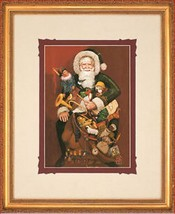 Christmas Present by Gre Gerardi Santa Clause Open Edition Framed Ready To Hang - $127.71