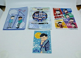 Osomatsu San Stationary File Plastic Folder Sleeve Post Card Set Japanes... - $21.60