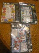 Lot NEW Vintage Bucilla 1999 2001 Jeweled Calendar Kits Flowers Hummingbird - $14.46