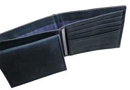 Tommy Hilfiger Men's Leather Canvas Credit Card Wallet Billfold Navy 31TL22X050 image 11