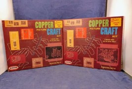 Vintage Aurora Copper Picture Craft Kits 1961 - $18.56