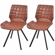 vidaXL Set of 2 Dining Office Living Room Kitchen Chair Artificial Leath... - $99.99