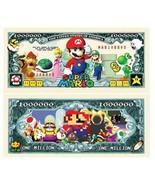 Super Mario Brothers 1 Million Dollar Bill Collectible Money 100 Pack - $500,82 MXN