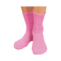 Women's Pink Diabetic Crew Socks Sole Pleasers Size 10-13  3 to 12 PAIR ... - $8.86+