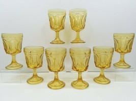 8 Anchor Hocking Fairfield Amber On The Rocks Goblets Vintage 8 Oz Glass... - $49.17