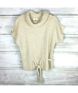 ANTHROPOLOGIE Between Me And You Wool Alpaca Chunky Cowl Neck Sweater - L - $34.99
