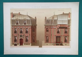 ARCHITECTURE Color (2) Prints - VICTORIAN Mansion Boulevard Pereire No. ... - $58.50