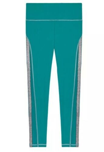 Victoria's Secret Sport Knockout Tight Green Foil Silver mesh Sides Leggings XS image 3