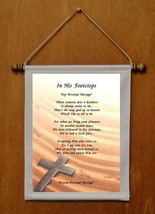 In His Footsteps - Personalized Wall Hanging (174-1) - $19.99