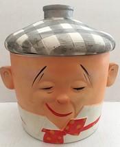 Vintage Nasco Stoneware Man with Ice Bag on His Head Bucket Cookie Jar 1... - $178.19