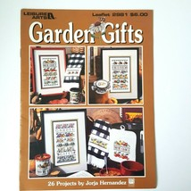 Leisure Arts Garden Gifts Counted Cross Stitch Leaflet 2981 Jorja Hernan... - $5.93