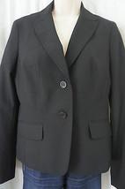 """Anne Klein Blazer Sz 8 Noir Black """"Classiques"""" Business Dinner Jacket Bl... - $49.44"""