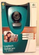 NEW Logitech Quickcam E3560 Web Cam Microphone Clear Audio New In Box 1924  - $15.70