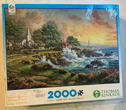 """Ceaco Puzzle 2000 Pieces """"Seaside Haven"""" By Thomas Kinkade Jigsaw Puzzle... - $12.78"""