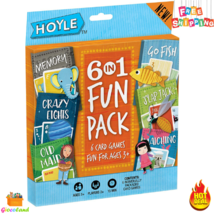 Hoyle 6 in 1 Fun Pack Six Classic Kids Card Fun Games Simple Easy Ages 3... - $7.99