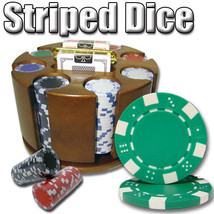 200 Ct - Pre-Packaged - Striped Dice 11.5 G - Carousel - $38.54