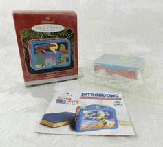 Hallmark Christmas Ornament Superman Lunchbox 1998 Pressed Tin - $14.84