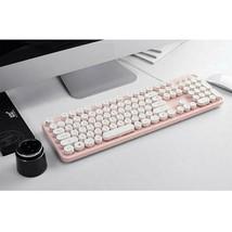 Actto KBD47 USB Wired Retro Korean English Keyboard (Pink) image 2