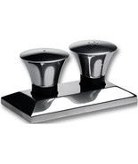 "Waterford ""Clarion"" Metal Signatures 3 Pc set Salt & Pepper with Tray Si... - $64.75"
