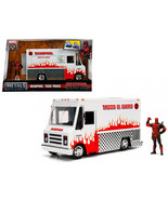 Deadpool Taco Truck with Deadpool Diecast Figure Marvel Series Diecast M... - $55.04