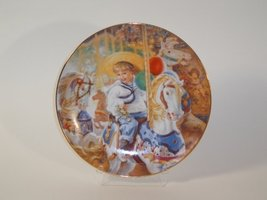 Carousel of Dreams Collector Plate by Sandra Kuck 4th Issue of The Hearts and Fl - $38.36