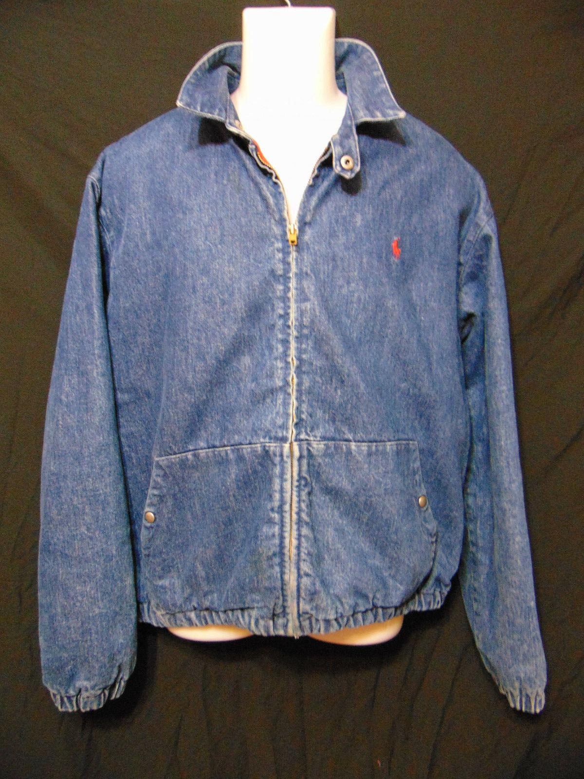 b9ef58fc2 57. 57. Previous. POLO RALPH LAUREN Vintage 80 s Mens Lined Jean Coat Jacket  Medium Full Zip USA