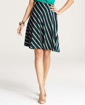 Ann Taylor diagonal stripe skirt, Emerald Estate, size 12, NWT - $19.99
