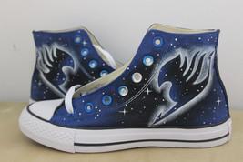 Fairy Tail Anime Shoes Custom Canvas Shoes High Top Black Canvas Shoes Men Women - $85.44
