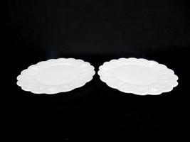 "(2) Westmoreland Milk Glass Paneled Grape Round Bread/Desert Plate, 7-1/4"" - $24.45"