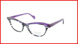 Face A Face Eyeglasses Frame GILDA 1 Col. 2014 Acetate Lines and Blue Light - $316.62