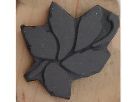 Magenta Floral Wood Mounted Rubber Stamp image 2