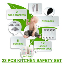 Safety Kid House-Child Safety Kitchen Set-Locks,Stoppers,Corners for Bab... - $39.99