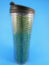 "Starbucks Holographic Green Black 16oz 8"" Travel Tumbler 2011 - $11.87"